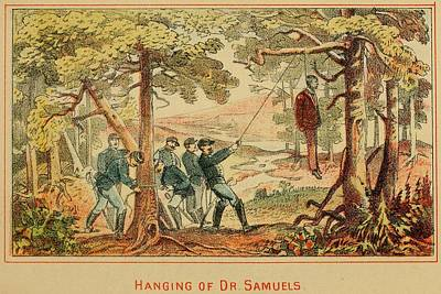 In June 1862 Federal Soldiers Hang Dr Art Print by Everett