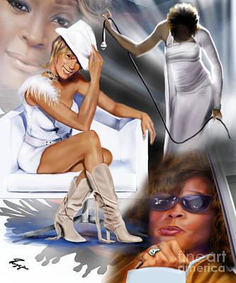 In My Life - Whitney Houston Art Print by Reggie Duffie