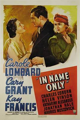 In Name Only, From Left Kay Francis Print by Everett