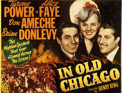 Posth Photograph - In Old Chicago, Tyrone Power, Alice by Everett