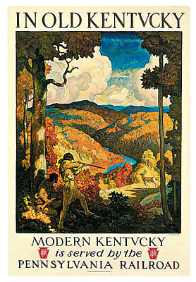 Kentucky Painting - In Old Kentucky Pennsylvania Railroad by N C Wyeth