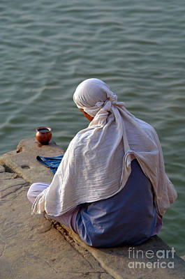Cremation Ghat Photograph - In Quiet Contemplation by Serena Bowles
