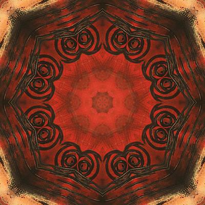 Digital Art - In Red by Kathy Sheeran