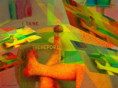 Conceptual Abstraction Digital Art - In The Bath by Neil Woodward