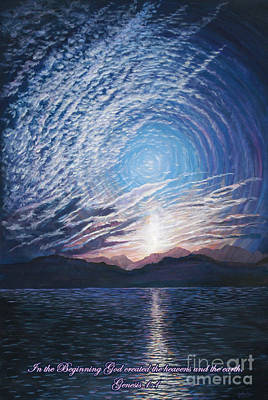 Painting - In The Beginning by LeRoy Jesfield