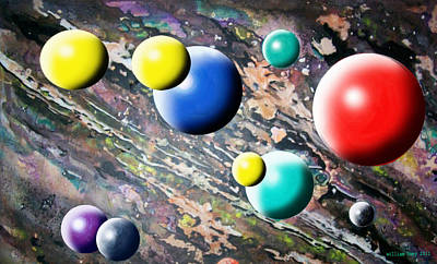 Atom Mixed Media - In The Beginning by William Hoey