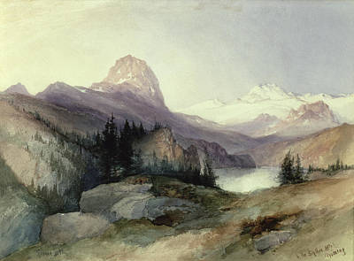 Cloudy Painting - In The Bighorn Mountains by Thomas Moran