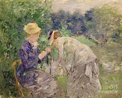 Ground Painting - In The Bois De Boulogne by Berthe Morisot
