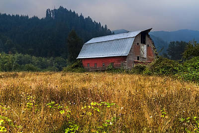 Patriotic Barn Photograph - In The Country by Debra and Dave Vanderlaan
