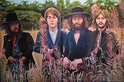 In The Field The Beatles Print by Sandra Ragan