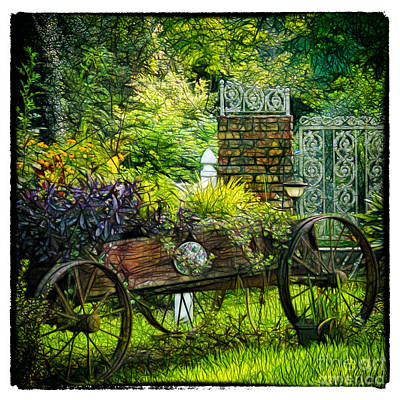 In The Garden Art Print by Judi Bagwell