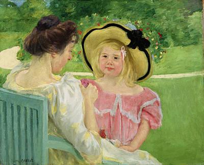 In The Garden Art Print by Mary Stevenson Cassatt