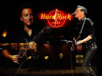 In The Hard Rock Cafe Print by Steve K