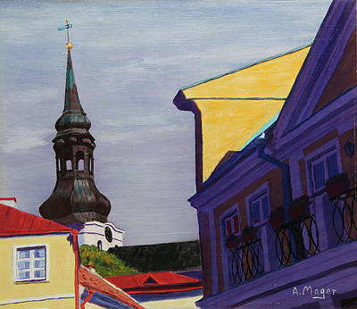 Painting - In The Heart Of Tallinn by Alan Mager