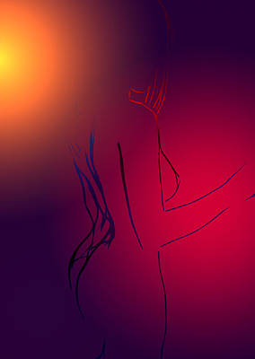 Female Body Digital Art - In The Heat Of The Sun by Steve K