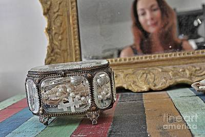 Self-portrait Mixed Media - In The Looking Glass by Lauri Serene