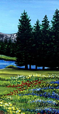 Painting - In The Meadow by Elizabeth Robinette Tyndall