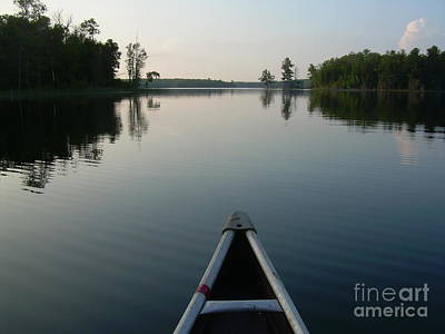 In The Old Canoe Art Print by Alex Blaha