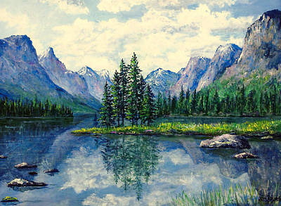Painting - In The Rockies by Lou Ann Bagnall