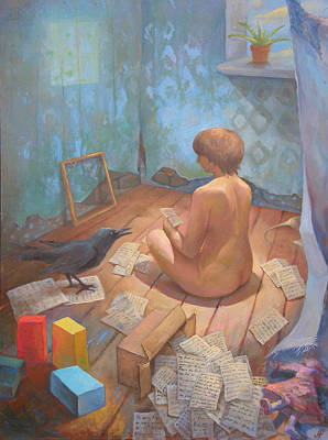 Art Print featuring the painting In The Room With Memories by Alla Parsons