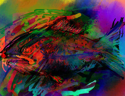 In The Sea Are Many Fishie Print by James Thomas