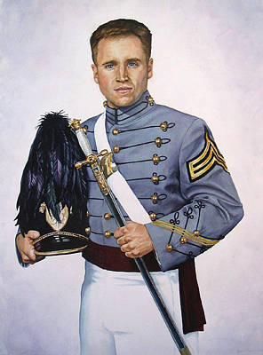 Army Air Service Painting - In The Service Of His Country by Heidi E  Nelson