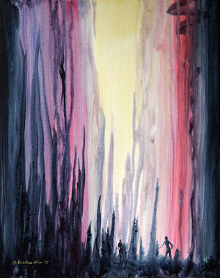 Kristine Painting - In The Shadows by Kristine Plum