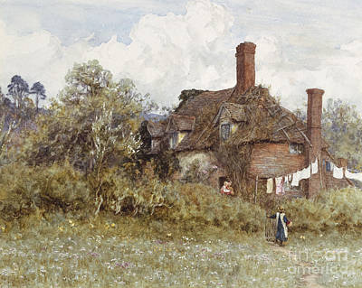 In The Spring Art Print by Helen Allingham