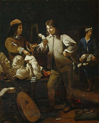 In The Studio Print by Michael Sweerts