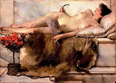 Nudes Painting - In The Tepidarium by Sumit Mehndiratta
