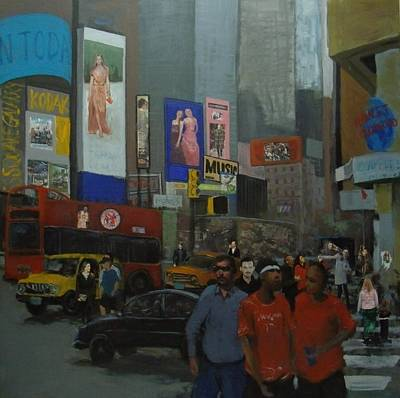 In The Time Square  Art Print by Rahman Shakir