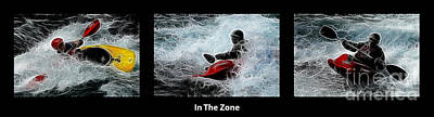 In The Zone With Caption Art Print by Bob Christopher