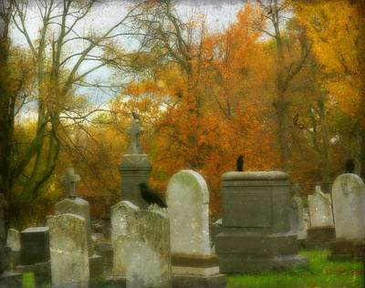 Ravens In Graveyard Photograph - In Their Glory by Gothicrow Images