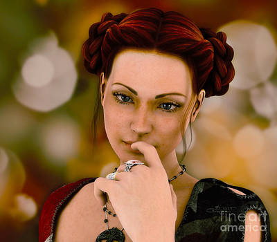 Thoughts Digital Art - In Thoughts by Jutta Maria Pusl