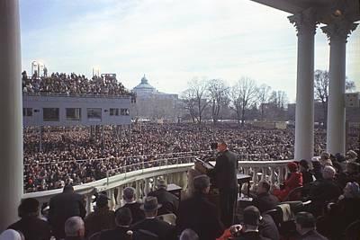 Inauguration Of Lyndon Johnson Art Print by Everett