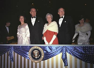 Inaugural Gown Photograph - Inauguration Of Lyndon Johnson. Lady by Everett