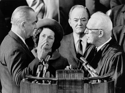 Inauguration Of President Lyndon. Chief Art Print