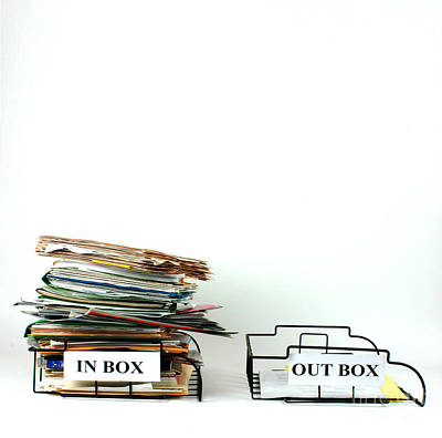 Inbox And Outbox Art Print