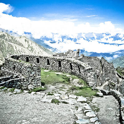 Inca Observatory Ruins Art Print by Darcy Michaelchuk
