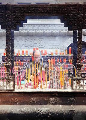 Incense Sticks Art Print