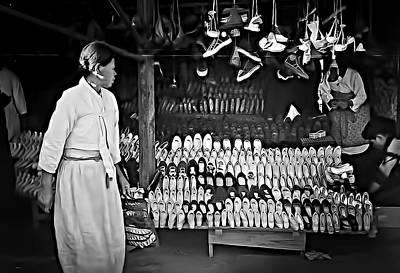 Photograph - Inchon Shoe Store 1955 by Dale Stillman