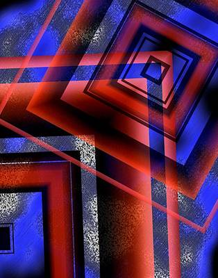 Inclined Lines With Transparency Art Print by Mario Perez