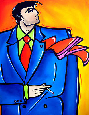 Abstract Pop Drawing - Incognito Original Pop Art by Tom Fedro - Fidostudio