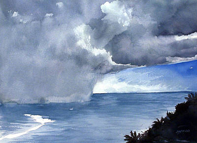Incoming Squall Art Print by Jon Shepodd