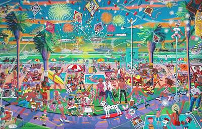 Painting - Independence Day - Venice Style by Frank Strasser