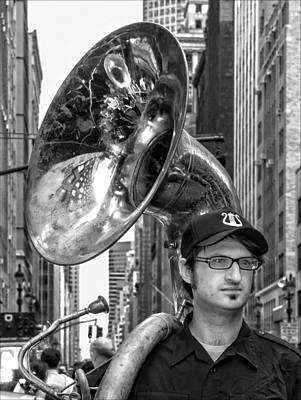 Sousaphone Wall Art - Photograph - India Day Parade Nyc 8 19 12 Sousaphone by Robert Ullmann