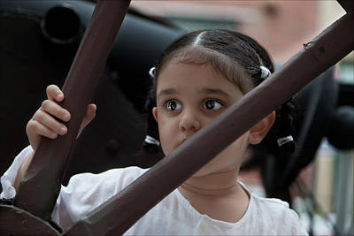Sikh Art Photograph - India Day Paradenyc 2011 Sikh Girl by Robert Ullmann
