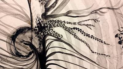 Painting - India Ink Organic 2 by Holly Berry