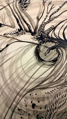Painting - India Ink Organic by Holly Berry