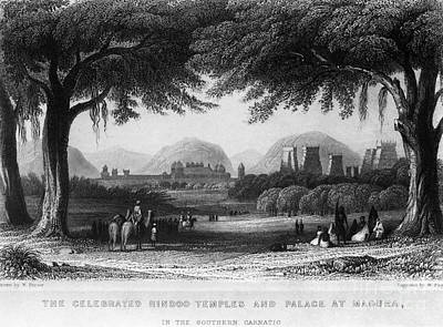 Photograph - India: Madura Temples, C1860 by Granger